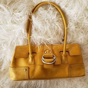 Franco Sarto Leather Yellow Bag